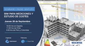 Seminario Online para Constructoras: BIM para mediciones y estudio de costes
