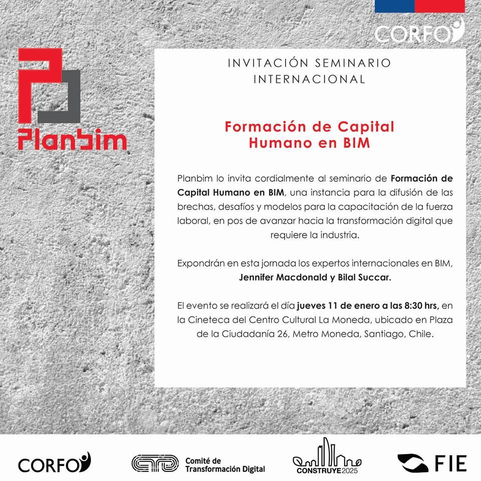 Seminario Internacional: Formación de Capital Humano en BIM