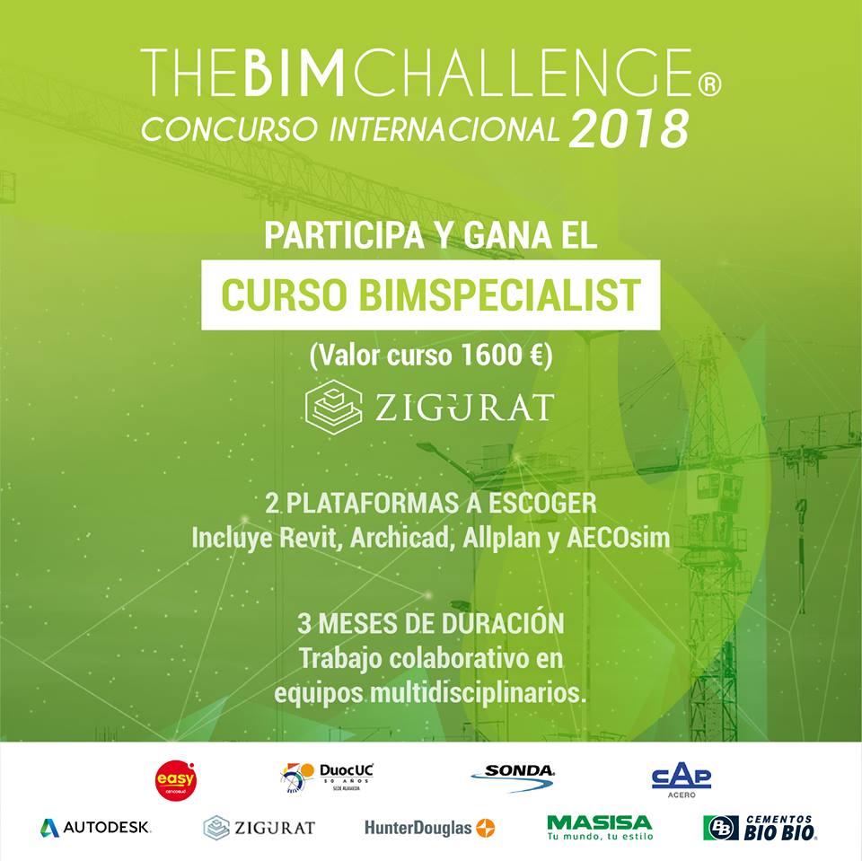 Participa en THBIMCHALLENGE 2018  y podrás ganar curso BIM en Zigurat
